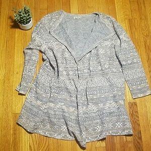 LUCKY BRAND Southwestern Aztec Geo Print Sweater